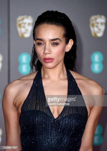 Hannah John-Kamen attends the EE British Academy Film Awards 2020 at Royal Albert Hall on February 02, 2020 in London, England.