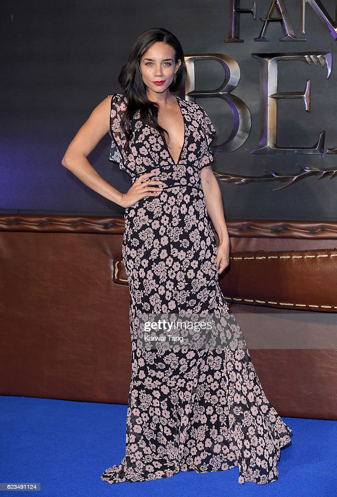 Hannah John-Kamen attends the European premiere of 'Fantastic Beasts And Where To Find Them' at Odeon Leicester Square on November 15, 2016 in London, England.
