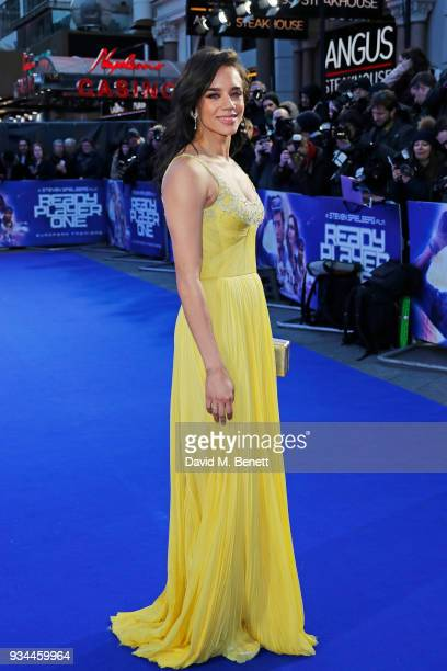 Hannah JohnKamen attends the European Premiere of Ready Player One at the Vue West End on March 19 2018 in London England
