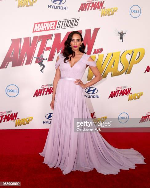 Hannah JohnKamen attends the premiere of Disney And Marvel's AntMan And The Wasp on June 25 2018 in Los Angeles California