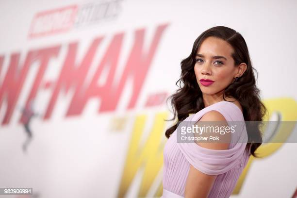 Hannah JohnKamen attends the premiere of Disney And Marvel's 'AntMan And The Wasp' on June 25 2018 in Los Angeles California