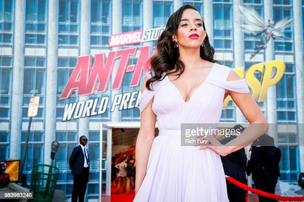 Hannah JohnKamen attends the premiere of Disney And Marvel's 'AntMan And The Wasp' on June 25 2018 in Hollywood California