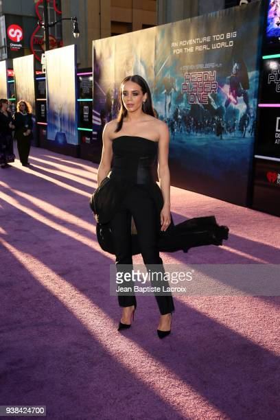 Hannah JohnKamen attends the Premiere of Warner Bros Pictures' Ready Player One at Dolby Theatre on March 26 2018 in Hollywood California
