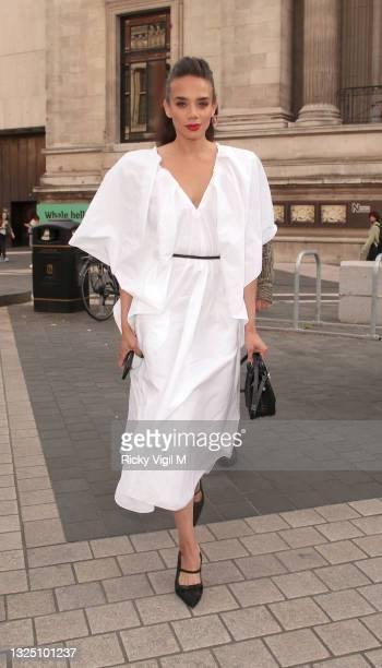 Hannah John-Kamen seen attending The Victoria and Albert Museum Summer Party on June 23, 2021 in London, England.