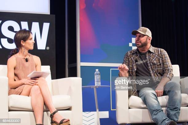 Hannah Karp interviews Garth Brooks during the SxSW Music Festival at the Austin Convention Center on March 17 2017 in Austin Texas
