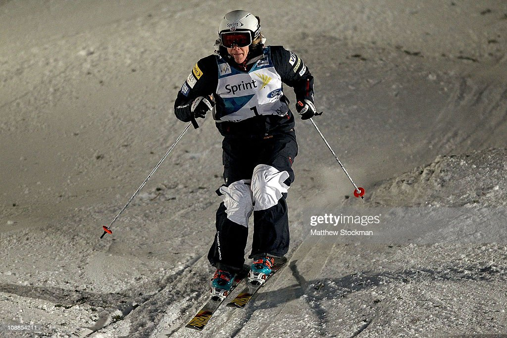 Hannah Kearney competes in the ladies' Dual Moguls final at the FIS Freestyle World Championships at Deer Valley Resort on February 5, 2011 in Park City, Utah.
