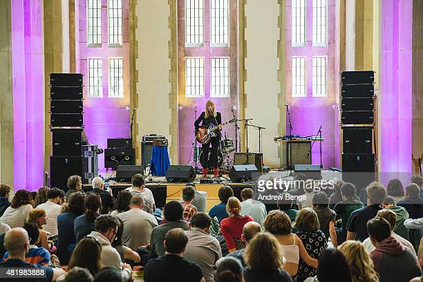 Hannah Lou Clark performs at the Sheffield Cathedral at Tramlines Festival on July 25 2015 in Sheffield United Kingdom