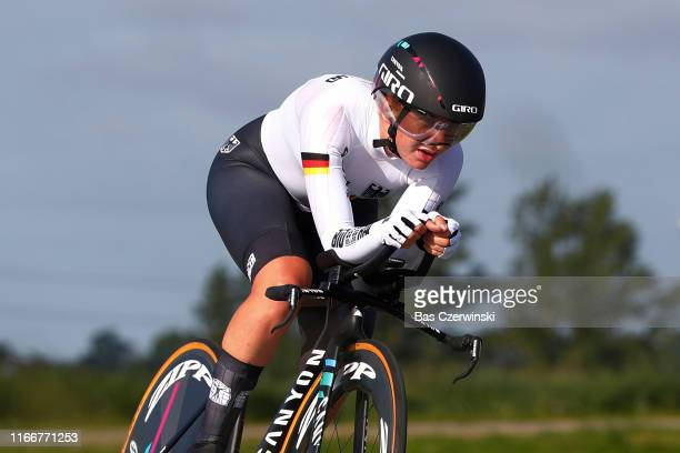 Hannah Ludwig of Germany / during the 25th UEC Road European Championships 2019 - U23 Women's Time Trial a 22,4km Individual Time Trial race from...