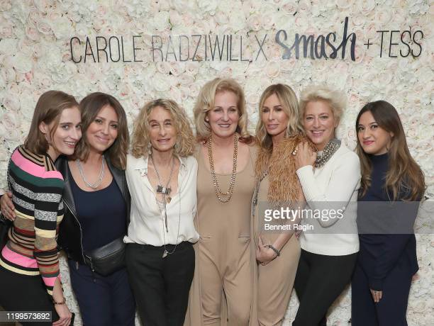 Hannah Lynch Ashley Freeborn Ann Dexter Jones Teresa Freeborn Carole Radziwill Dorinda Medley and Mercedes Laporte attend the launch of Smash Tess X...