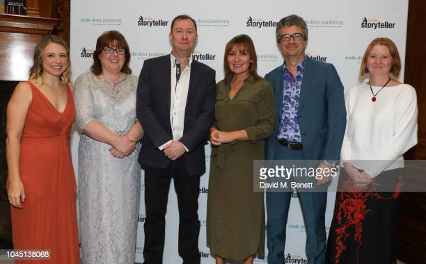 Hannah Lynn Audrey Harrison Martin Willis Lorraine Kelly Andy Maslen and Helen Harper attend the Kindle Storyteller Award 2018 at The Royal Society...