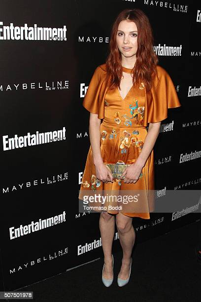 Hannah Marie attends the Entertainment Weekly's Celebration Honoring The 2016 SAG Awards Nominees held at Chateau Marmont on January 29 2016 in Los...