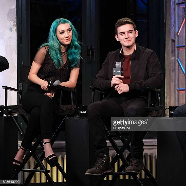 Hannah Marks and Michael Johnston attend the Build Series to discuss 'Slash' at AOL HQ on December 8 2016 in New York City