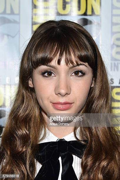 Hannah Marks attends the Dirk Gently press line at Comic-Con International 2016 - Day 3 on July 23, 2016 in San Diego, California.