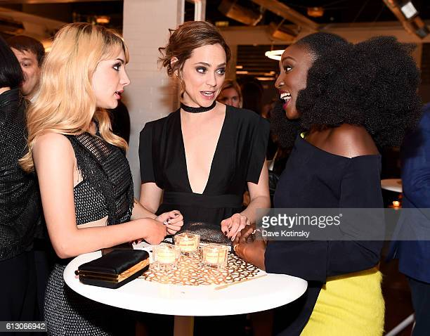 Hannah Marksm Fiona Dourif and Jade Eshete attend EW Hosts An Evening With BBC America on October 6 2016 in New York City