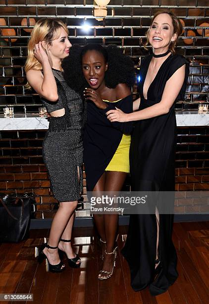 Hannah Marksm Jade Eshete and Fiona Dourif attend EW Hosts An Evening With BBC America on October 6 2016 in New York City
