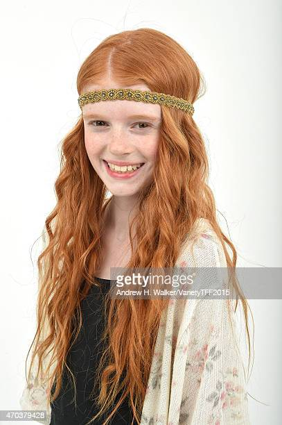 Hannah McCloud from 'Tenured' appears at the 2015 Tribeca Film Festival Getty Images Studio on April 18 2015 in New York City