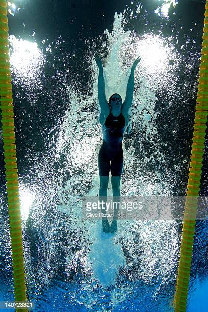 Hannah Miley of Garioch ASC competes in the Women's 200m Individual Medley Semi Final 2 during day three of the British Gas Swimming Championships at...