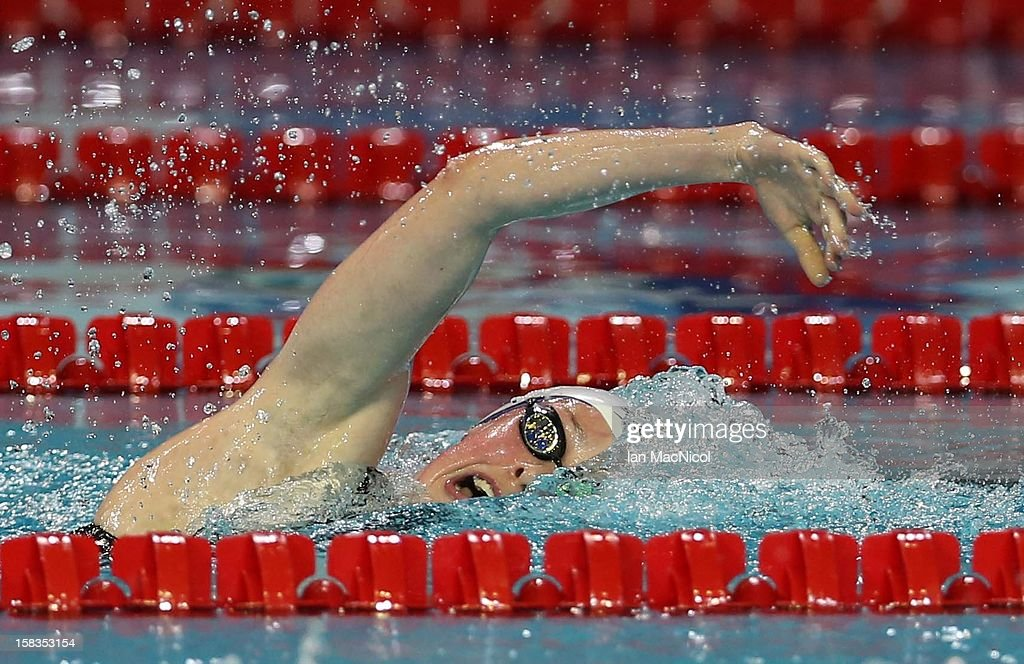 Hannah Miley of Great Britain competes in the heats of the Women's 800m Free during day two of the FINA World Short Course Swimming Championships on December 13, 2012 in Istanbul, Turkey.
