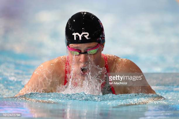 Hannah Miley of Great Britain competes in the Women's 200m Individual Medley Heat 4 during the swimming on Day six of the European Championships...