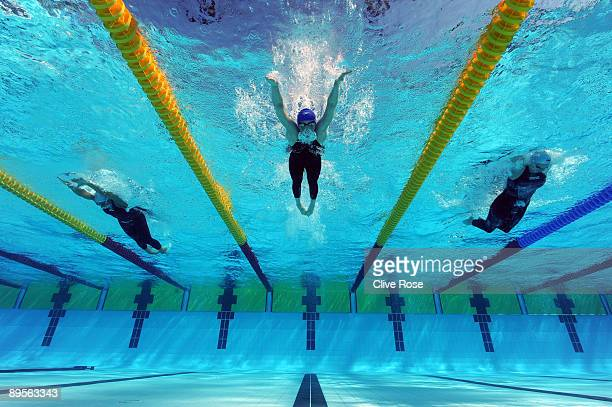 Hannah Miley of Great Britain competes in the Women's 400m Individual Medley Heats during the 13th FINA World Championships at the Stadio del Nuoto...