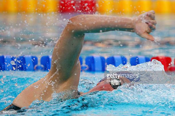 Hannah Miley of Great Britain competes in the Women's 400m Individual Medley Final during the 13th FINA World Championships at the Stadio del Nuoto...