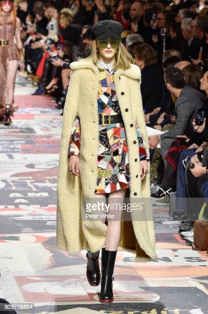Hannah Motler walks the runway during the Christian Dior show as part of the Paris Fashion Week Womenswear Fall/Winter 2018/2019 on February 27 2018...