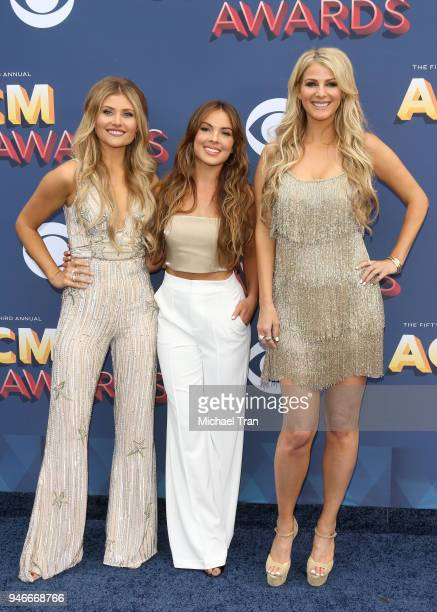 Hannah Mulholland Naomi Cooke and Jennifer Wayne attend the 53rd Academy of Country Music Awards at MGM Grand Garden Arena on April 15 2018 in Las...
