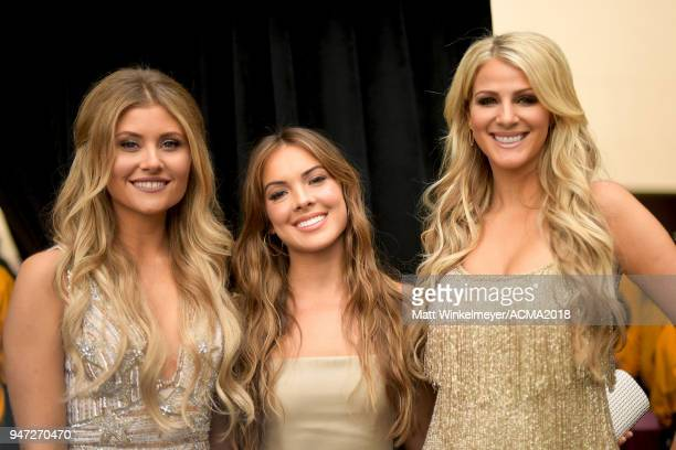 Hannah Mulholland Naomi Cooke and Jennifer Wayne of Runaway Jane attend the 53rd Academy of Country Music Awards on April 15 2018 in Las Vegas Nevada