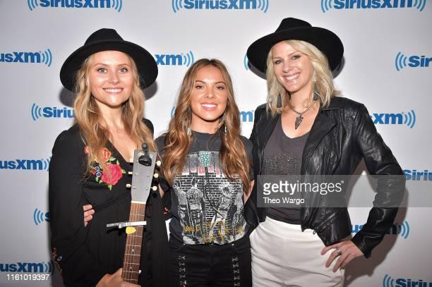 Hannah Mulholland, Naomi Cooke and Jennifer Wayne of Runaway June visit SiriusXM Studios on July 09, 2019 in New York City.
