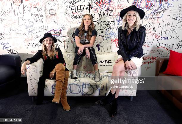 Hannah Mulholland Naomi Cooke and Jennifer Wayne of Runaway June visit Music Choice on July 09 2019 in New York City