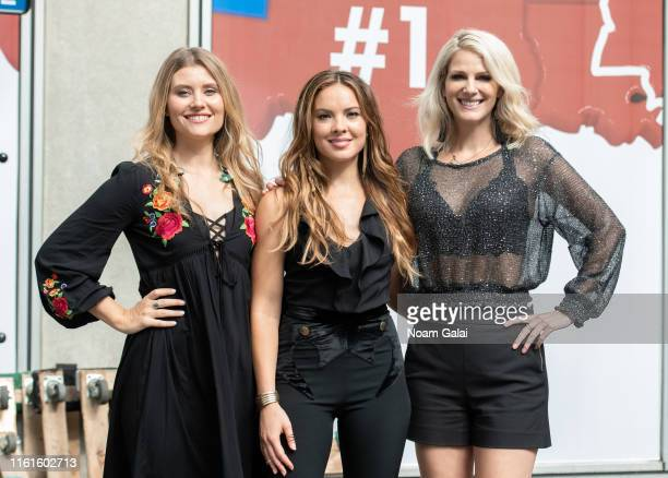 Hannah Mulholland Naomi Cooke and Jennifer Wayne of Runaway June pose for a photo backstage at FOX Friends AllAmerican Summer Concert Series July 12...