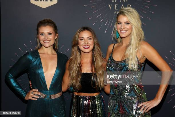 Hannah Mulholland Naomi Cooke and Jennifer Wayne of Runaway June attend the 2018 CMT Artists of The Year at Schermerhorn Symphony Center on October...