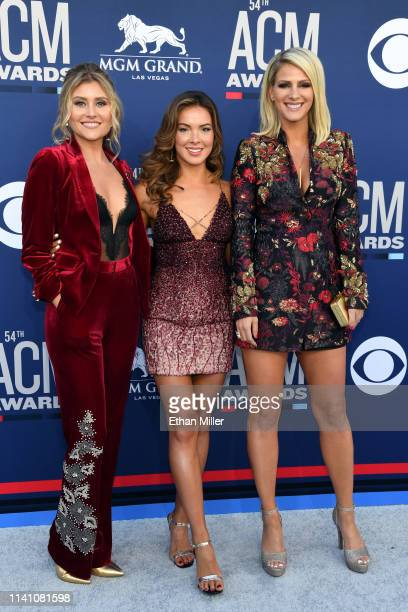 Hannah Mulholland Naomi Cooke and Jennifer Wayne of Runaway June attend the 54th Academy Of Country Music Awards at MGM Grand Hotel Casino on April...