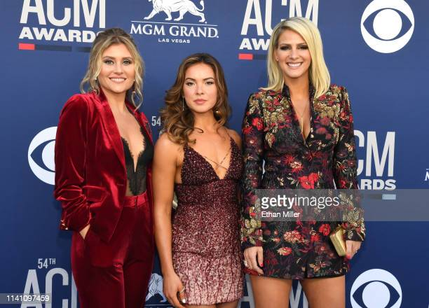 Hannah Mulholland, Naomi Cooke and Jennifer Wayne of Runaway June attend the 54th Academy Of Country Music Awards at MGM Grand Garden Arena on April...