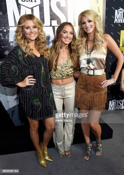 Hannah Mulholland Naomi Cooke and Jennifer Wayne of Runaway June attend the 2017 CMT Music Awards at the Music City Center on June 7 2017 in...