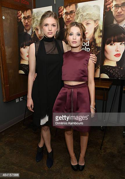Hannah Murray and Emily Browning attend the God Help The Girl New York Special Screening at Nitehawk Cinema on August 25 2014 in New York City
