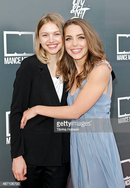 Hannah Murray and Jessica Rothe attend the premiere of 'Lily Kat' at the Vista Theatre on March 20 2015 in Los Angeles California