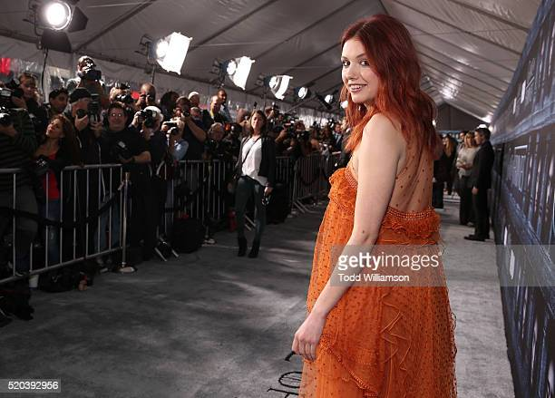 Hannah Murray attends the premiere of HBO's 'Game Of Thrones' Season 6 at TCL Chinese Theatre on April 10 2016 in Hollywood California