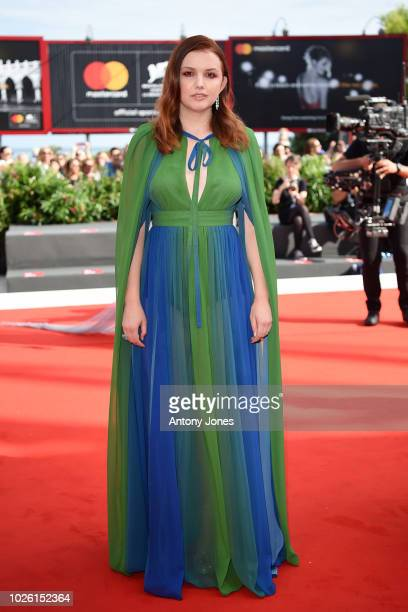 Hannah Murray walks the red carpet ahead of the 'My Brilliant Friend ' screening during the 75th Venice Film Festival at Sala Grande on September 2...