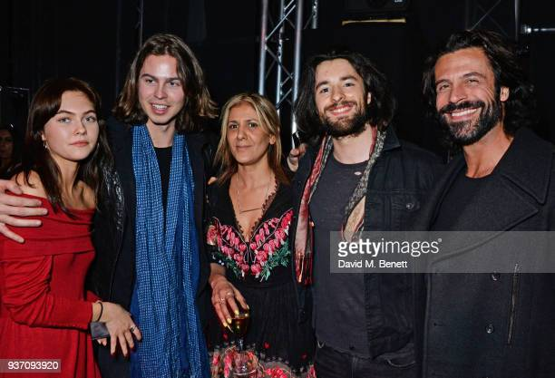 Hannah Murrell Willow Robinson Azzi Glasser Dom Gilday and Christian Vit attend The Perfumer's Story evening of Scentsory delights hosted by Aures...