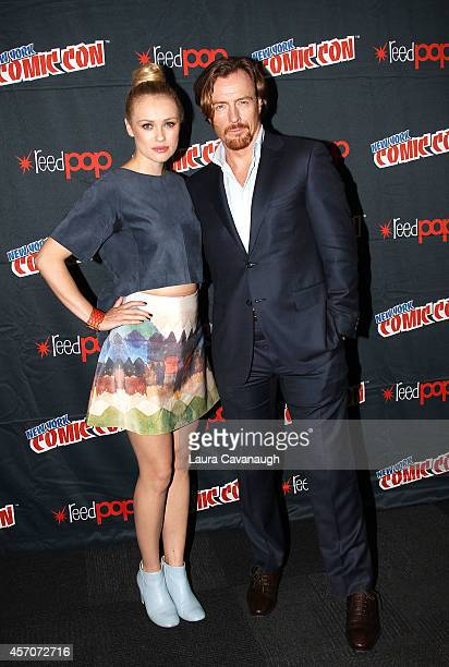 Hannah New and Toby Stephens in the Black Sails Press Room at 2014 New York Comic Con Day 3 at Jacob Javitz Center on October 11 2014 in New York City