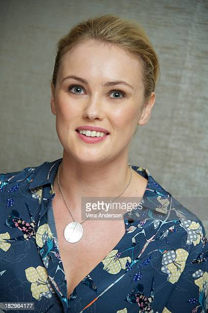 Hannah New at the Black Sails Press Conference at The Mayfair Hotel on October 1 2013 in London England