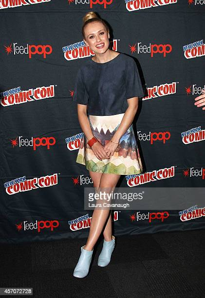 Hannah New in the Black Sails Press Room at 2014 New York Comic Con Day 3 at Jacob Javitz Center on October 11 2014 in New York City
