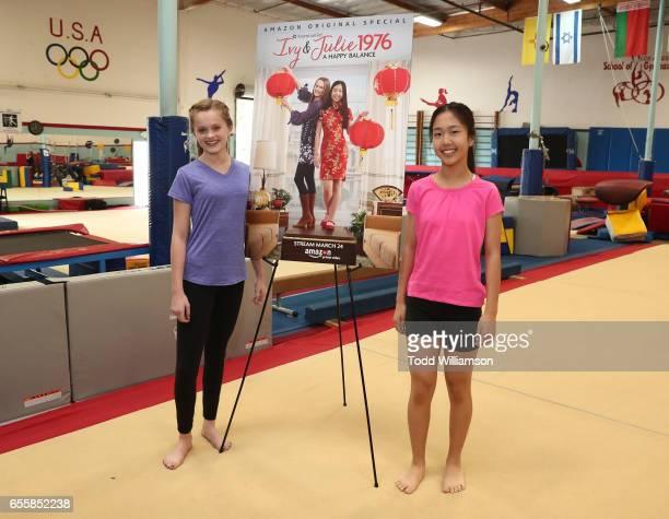 "Hannah Nordberg and Nina Lu attend an Amazon Original Special ""An American Girl Story - Ivy & Julie 1976: A Happy Balance"" Photo Call with Nina Lu,..."