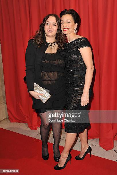 Hannah Olivennes and Kristin Scott Thomas attend the 36th Cesar Film Awards at Theatre du Chatelet on February 25 2011 in Paris France