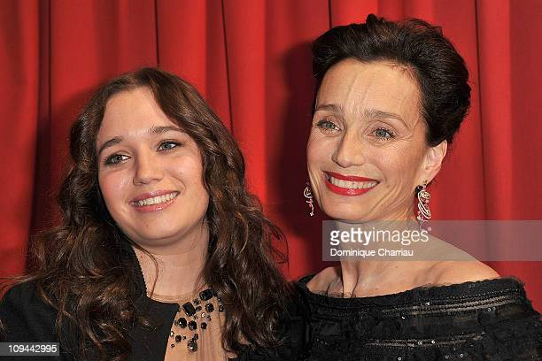Hannah Olivennes and Kristin Scott Thomas attends the 36th Cesar Film Awards at Theatre du Chatelet on February 25 2011 in Paris France
