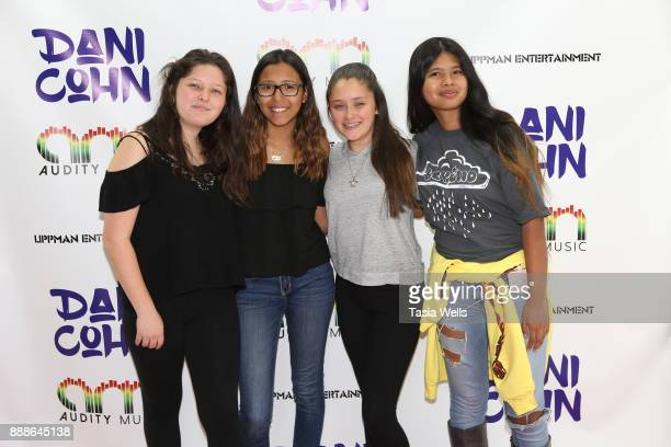 Hannah Petrey Mya Mendoza Elizabeth Petrey and Sabrina Taing at Dani Cohn's Single Release Party for #FixYourHeart on December 8 2017 in Burbank...