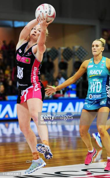 Hannah Petty of the Thunderbirds during the round three Super Netball match between the Adelaide Thunderbirds and the Melbourne Vixens at Priceline...