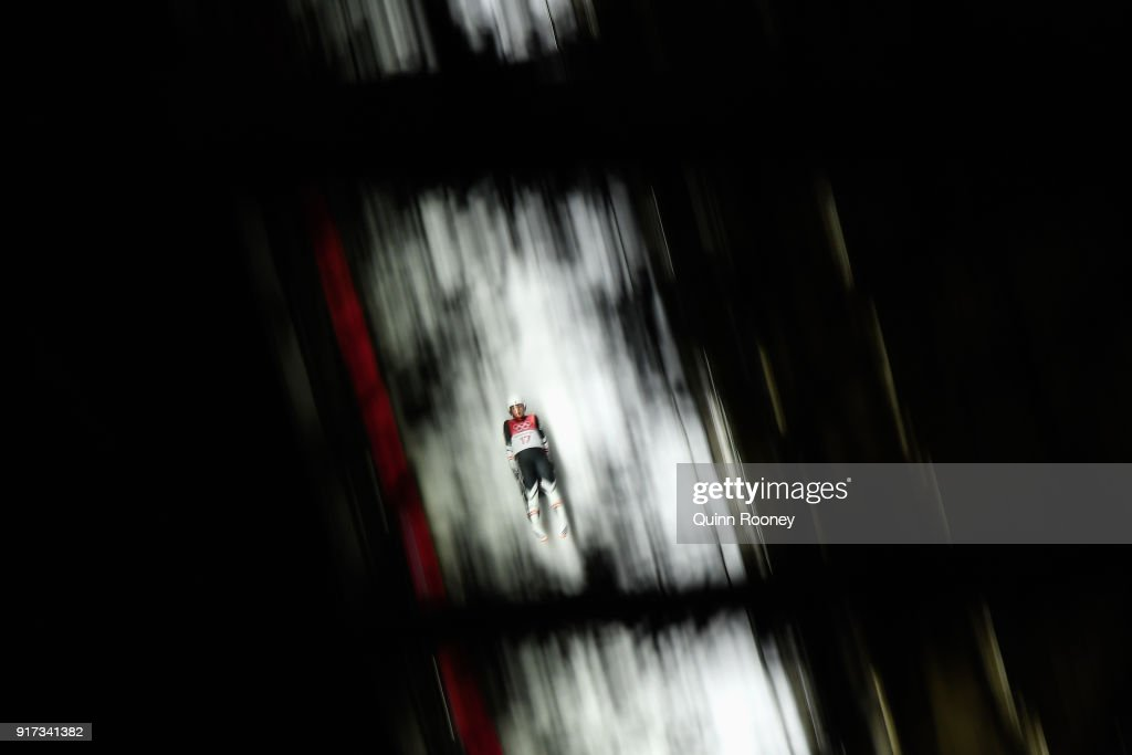 Hannah Prock of Austria during the Women's Singles Luge run 2 at Olympic Sliding Centre on February 12, 2018 in Pyeongchang-gun, South Korea.