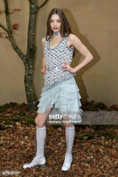 Hannah Quinlivan attends the Chanel show as part of the Paris Fashion Week Womenswear Fall/Winter 2018/2019 on March 6 2018 in Paris France